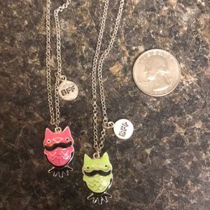 Jewelry - Super cute owl BFF necklaces, there are two